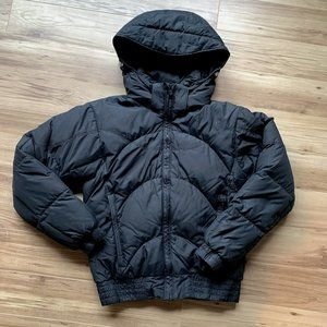 COLUMBIA Puffer bomber jacket small duck/down black